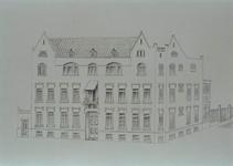 XIX-36-01 Het Rotterdams sanatorium, gezien uit het westen.