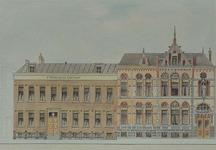 XIX-43-01-B Rotterdamse Schie - Schiekade.Nieuwe voorgevel van het Sint- Franciscusgasthuis.