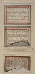 XIX-60-EN-61 Afbeeldingen van het beschreven glas in het Pesthuis aan de Hoogstraat, beide ruiten onder elkaar.2 ...