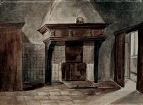 XIX-7 Schouw in één der zalen van het Gasthuis in de Hoogstraat.