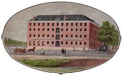 XV-177 Gezicht op de Nederlandse Sigarenfabriek aan de Oostmolenwerf, uit het oosten.