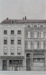 XV-269-01 Gezicht op het gebouw van het Rotterdamsch Nieuwsblad aan het Beursplein, uit het noorden.