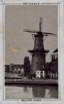 XVI-75 Korenmolen De Goudsbloem aan het Slagveld, uit het oosten.