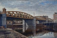 XVII-45-4 Spoorwegviaduct over de stadsvest bij het Pompenburg.