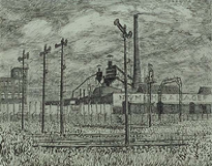 XVII-64-02-00-03 Spoorbaan Rotterdam-Dordrecht langs de Stadionweg ter hoogte van de n.v. W. van der Lugt & Zonen ...