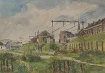 XVII-65-03-01 Spoorbaan bij de Molenwaterweg, gezien uit het zuidoosten.