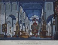 XVIII-114 Het interieur van de Grote Kerk, gezicht naar het orgel.