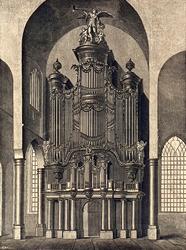 XVIII-128-01 Het orgel van de Grote Kerk.