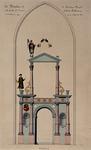 XVIII-137-II Afbeelding van de muurschildering in de kapel van het Metselaarsgilde in de Grote Kerk.