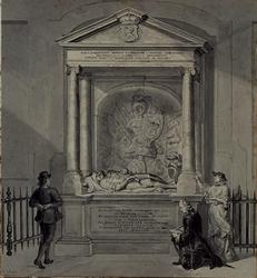 XVIII-153 Grafmonument van E.M. Kortenaer in de Grote Kerk.