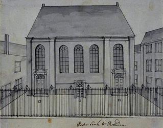 XVIII-174 Gezicht op de Oosterkerk.