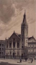 XVIII-186-01 Gezicht op de Westerkerk aan de Kruiskade, uit het noordwesten.