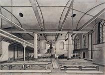 XVIII-191 Gezicht in de Sint-Sebastiaanskapel in de Lombardstraat.