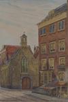 XVIII-193-01 Sint Sebastiaanskapel in Lombardstraat, gezien vanaf de Meent.