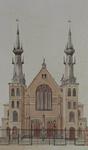 XVIII-205-01 Voorgevel Nieuwe Westerkerk aan de Ammanstraat.