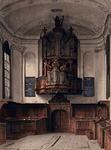 XVIII-228 Het orgel in de Doopsgezinde Kerk, gezien uit het zuiden.