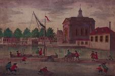 XVIII-234-02 Gezicht op de Episcopaalse Kerk aan het Haringvliet, uit het zuiden.