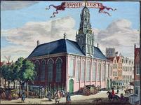 XVIII-251 Gezicht op de Franse kerk aan de Hoogstraat.