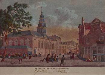 XVIII-252 De Franse kerk, aan de Hoogstraat.