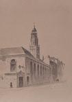 XVIII-259-01 Franse kerk aan de Hoogstraat, gezien uit het zuidwesten.