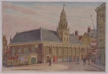 XVIII-265-01 Franse kerk aan de Hoogstraat, gezien uit het zuidwesten.