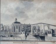 XVIII-282 De Nieuwe Lutherse Kerk aan de Blaak..