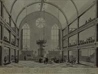 XVIII-297 Interieur van de Remonstrantse kerk aan de Vissersdijk.
