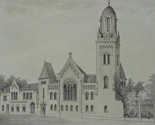 XVIII-313-01 De Remonstrantse kerk, gezien uit het zuiden.