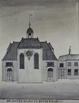 XVIII-320 Gezicht op de Schotse kerk.
