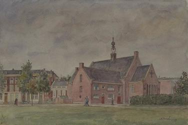XVIII-327-00-10 Schotse kerk aan de Schiedamse Vest, gezien uit het zuidoosten.