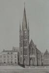 XVIII-347-01 De kerk van de Allerheiligste Verlosser aan de Goudse Rijweg, gezien uit het zuiden.