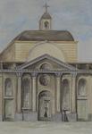 XVIII-349-01 De Sint Laurentiuskerk aan de Houttuin, gezien uit het noorden.
