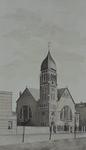 XVIII-35-01 Nederlandse Hervormde Kerk, aan de 's-Gravendijkwal, uit het noordwesten.