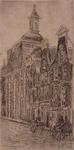 XVIII-350-2 Gezicht op de Sint Laurentiuskerk aan de Houttuin, uit het noordwesten.