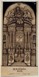XVIII-366 Hoogaltaar van de Sint Rosaliakerk in de Leeuwenstraat.