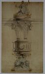 XVIII-388 De preekstoel van de Sint-Dominucuskerk of Steigersekerk.