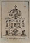 XVIII-389 Voorgevel van de Sint-Dominicuskerk aan het Steiger.