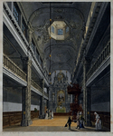 XVIII-405 Gezicht in de Oud Katholieke Kerk, Het Paradijs in de Lange Torenstraat.