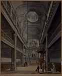 XVIII-405-02 Interieur van de Oud Katholieke Paradijskerk in de Lange Torenstraat. naar het altaar gezien.