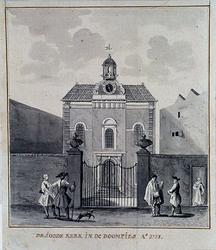 XVIII-413-05 De Joodse Synagoge aan de Boompjes anno 1758.