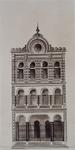 XVIII-419-01 Voorgevel van de Synagoge aan de Botersloot.