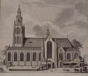 XVIII-42 De Grote Kerk aan het Grotekerkplein, omstreeks 1640.