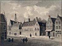 XVIII-427 Het St. Agnietenklooster aan de Botersloot, anno 1574.