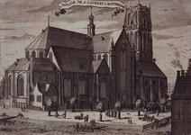 XVIII-45 Gezicht op de Grote Kerk aan de Binnenrotte, uit het noordoosten.