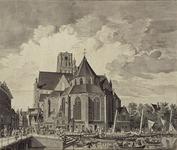 XVIII-47 Sint Laurenskerk gezien vanaf de Binnenrotte.