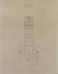 XVIII-57-2 Voorgevel van de Grote Kerk