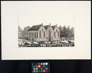 XVIII-6-01 Prinsenkerk aan de Botersloot, tijdens marktdag, uit het westen.