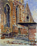 XVIII-82-04-3 De hoofdingang van de Grote Kerk na het bombardement.