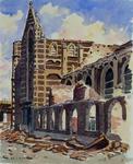 XVIII-82-04-4 Grote Kerk oftewel Sint Laurenskerk na het bombardement.