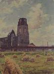 XVIII-82-19 Gezicht op de Grote of Sint Laurenskerk.